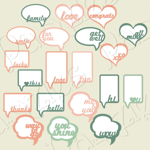 Speech Bubble Sentiments Collection