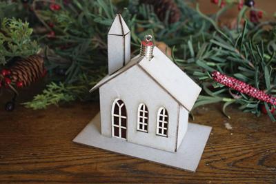 Melissa Frances Ornament House Church Kit