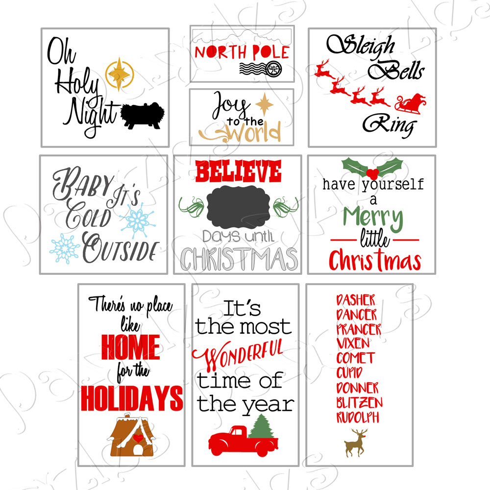 Christmas Cheer Vinyl Sign Cutting Collection