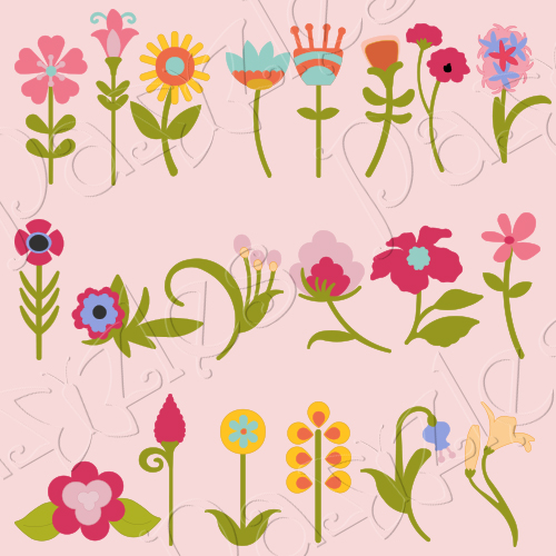 Funky Flowers Cutting Collection