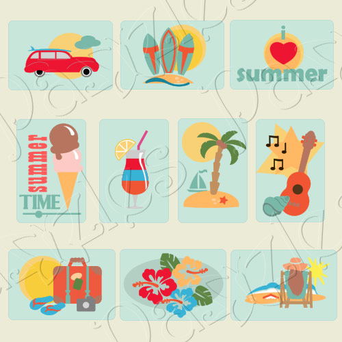 Summer Style Pocket Cards Cutting Collection