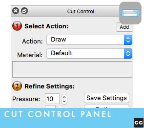 Cut Control Panel