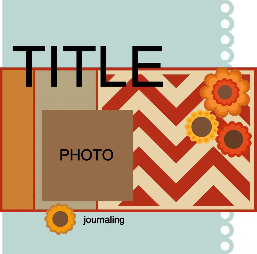 Pazzles Daddy Chevron Scrapbook Layout Template with instant SVG download. Compatible with all major electronic cutters including Pazzles Inspiration, Cricut, and Silhouette Cameo.