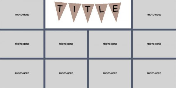 10 Photo Layout Template