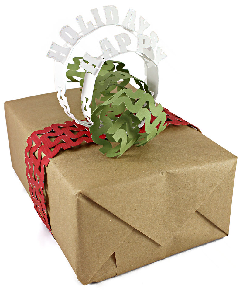 12 Days of Christmas Gift Wrapping Day 4 Word Loops Bow