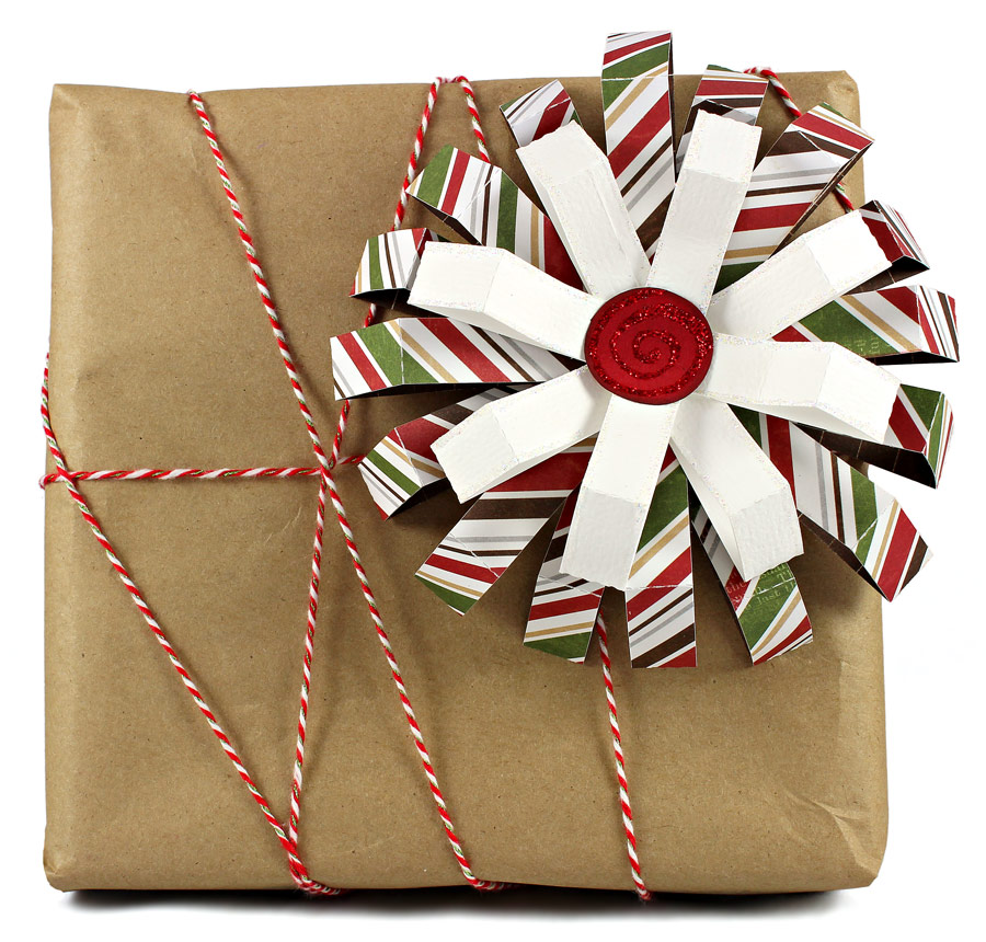 12 Days of Gift Wrapping Day 5 Stacked Loop Bow
