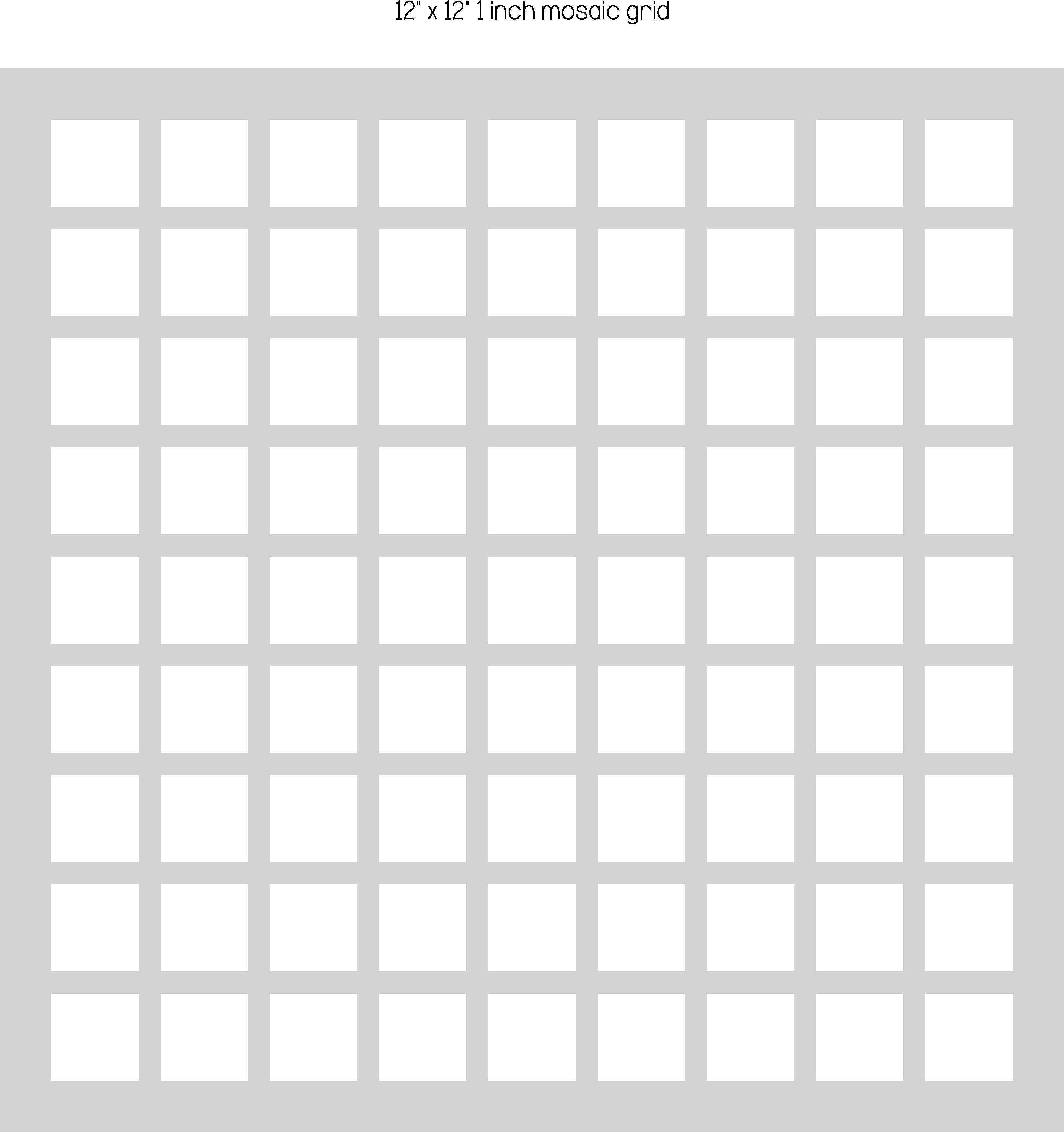 12x12 One Inch Mosaic