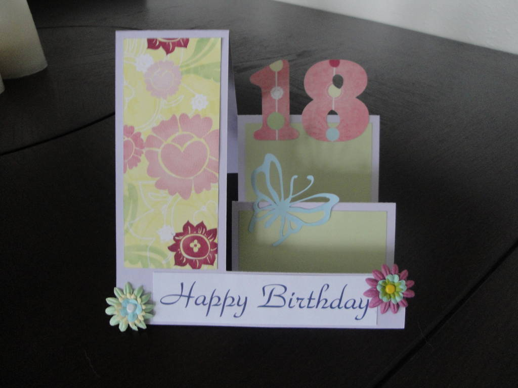 Birthday Card Making Ideas Part - 49: 18th Birthday Card
