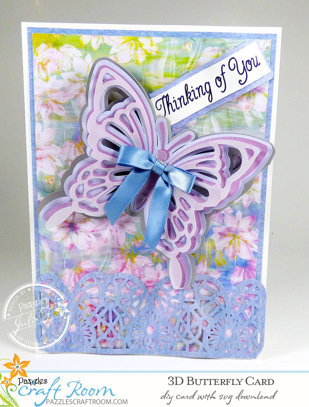 DIY 3D Butterfly Card with instant SVG download