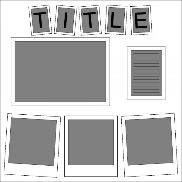 4 Photo Layout Template