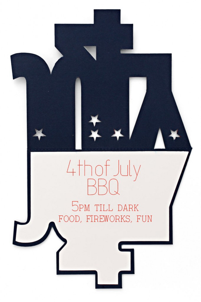 4th of July Invitation inside