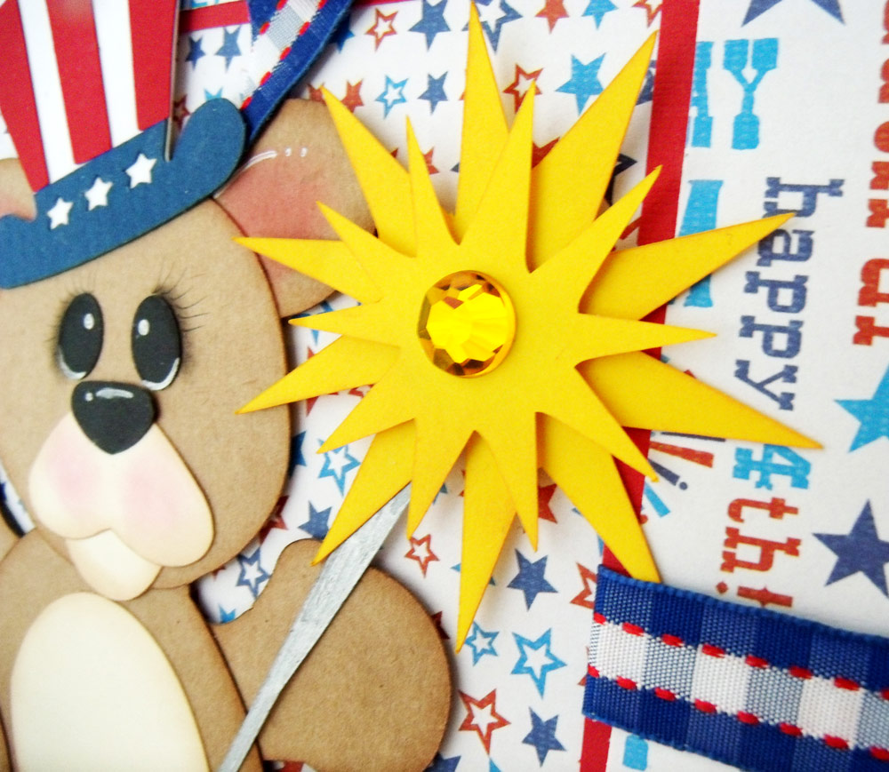 4th of July Patriotic Bear Layout