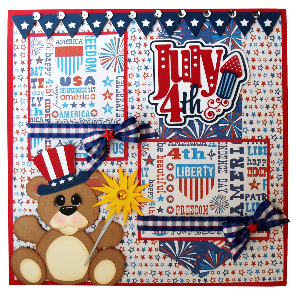 Patriotic 4th of July Bear Layout