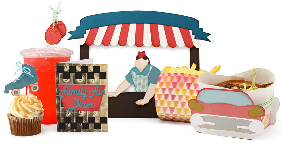 50s Diner Cutting Collection: WPC, AI, and SVG Cutting Files