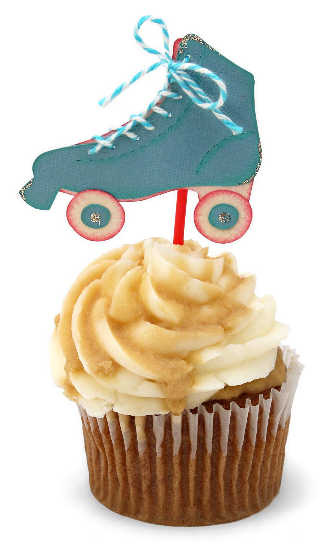 50s Diner Roller Skate Cupcake Pick