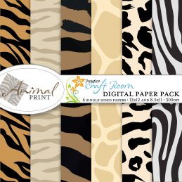 Pazzles Animal Print Digital Paper with instant download.