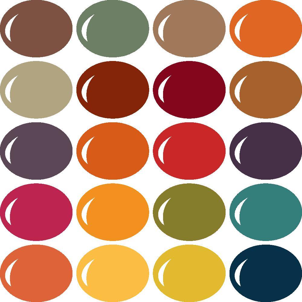 InVue Color Palette: Autumn Harvest 1