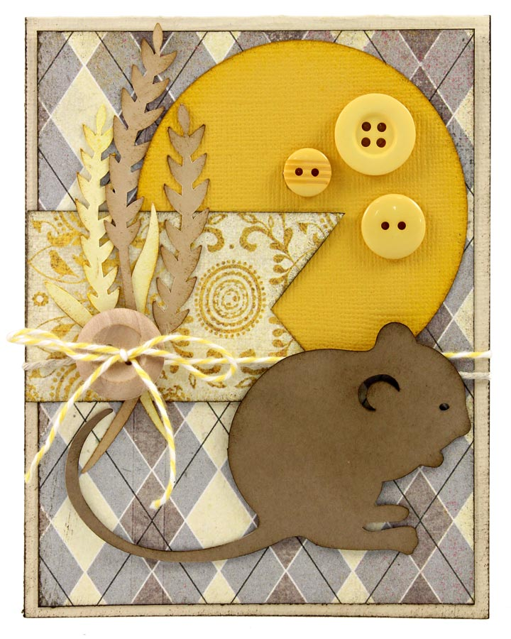 Autumn Harvest Example Projects Field Mouse Card