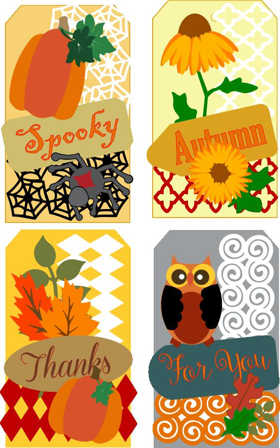 Autumn Tags Project Pattern