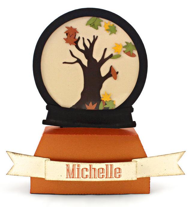 Autumn Tree Placeholder Leaf Shaker