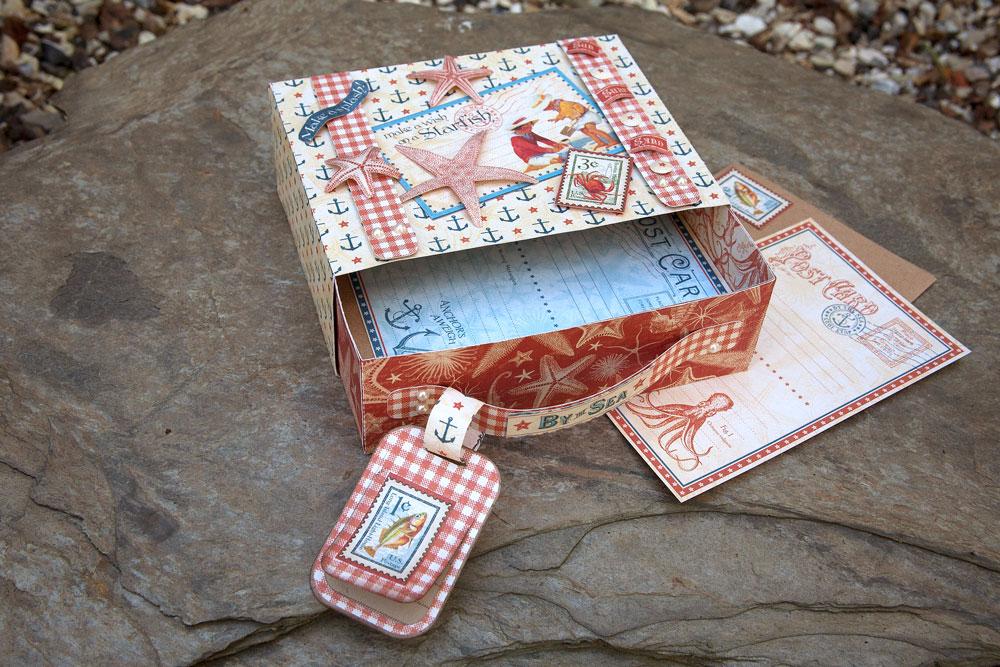 Suitcase Box Postcard Holder Pazzles Craft Room