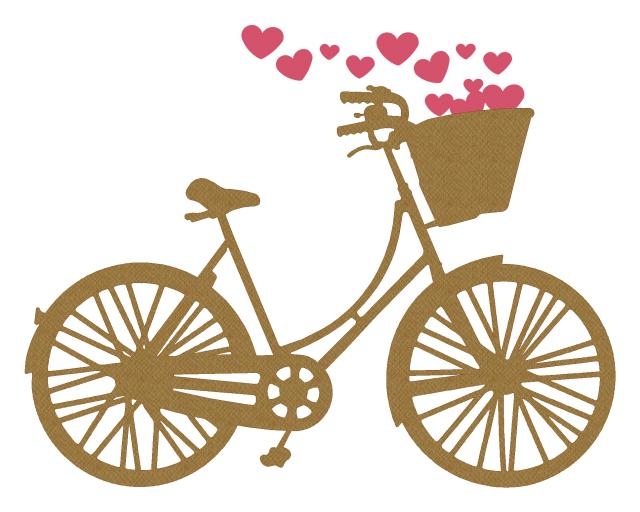 Bike with Basket of Hearts
