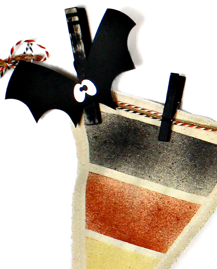 Boo Banner Bat Detail