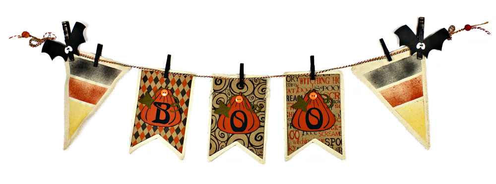 Candy Corn Boo Banner with Canvas Corp products