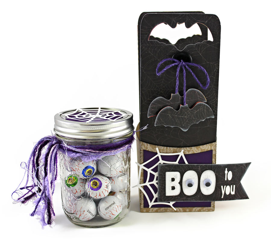 Boo To You Mason Jar with Holder