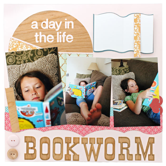 Scrapbook Layout Bookworm A Day In the Life