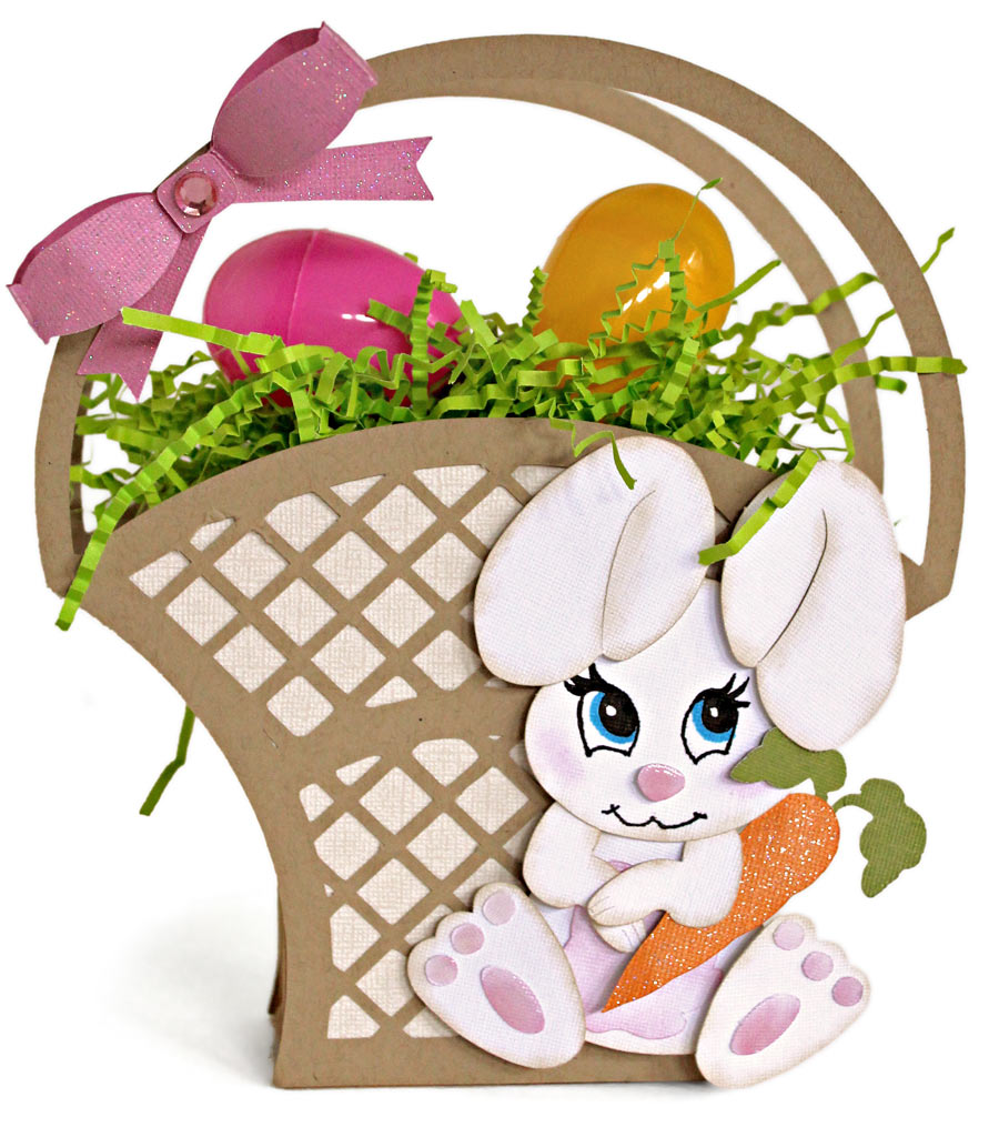 Bunny Lattice Easter Basket