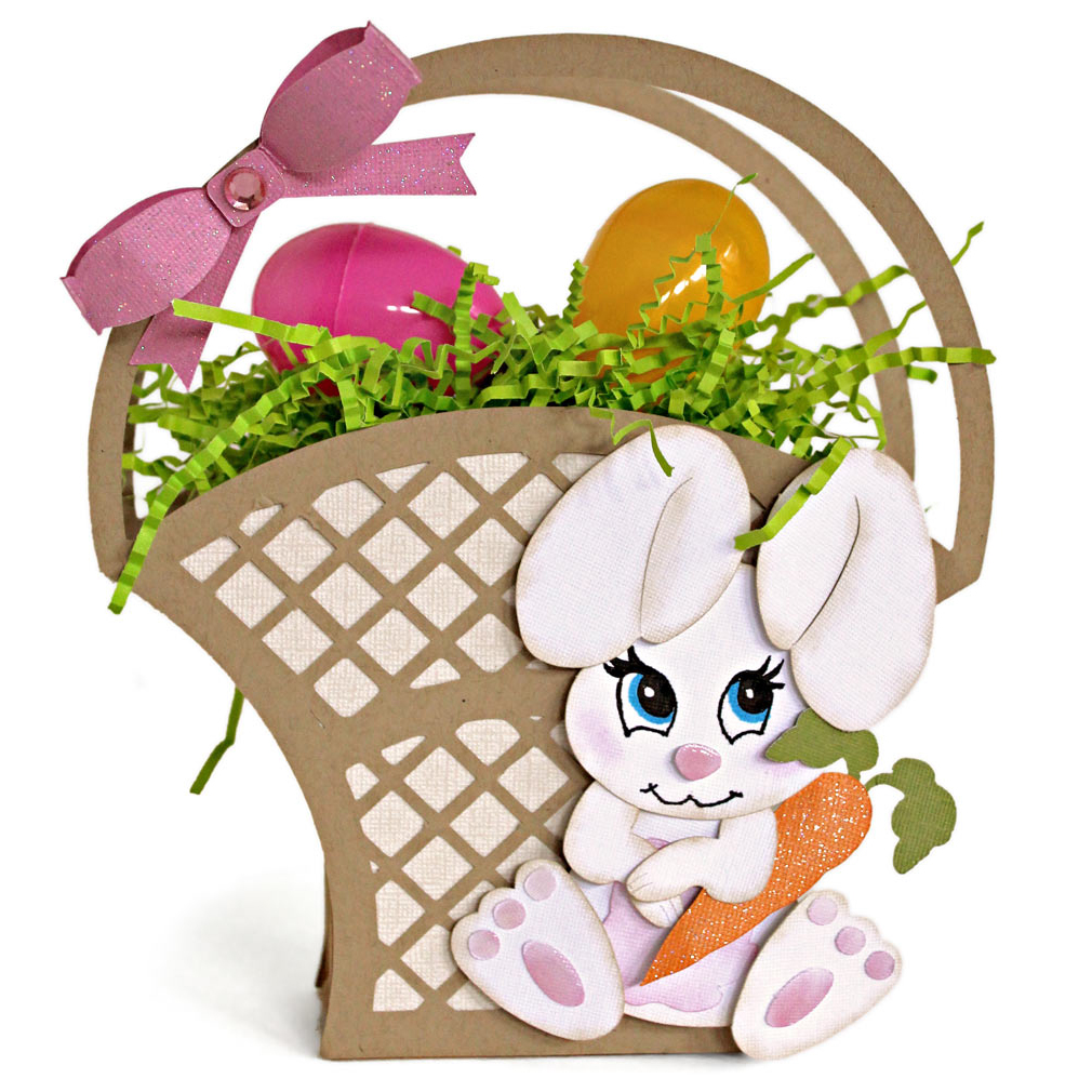 Easter Bunny Lattice Basket Pazzles Craft Room