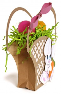 Bunny Lattice Easter Basket side view