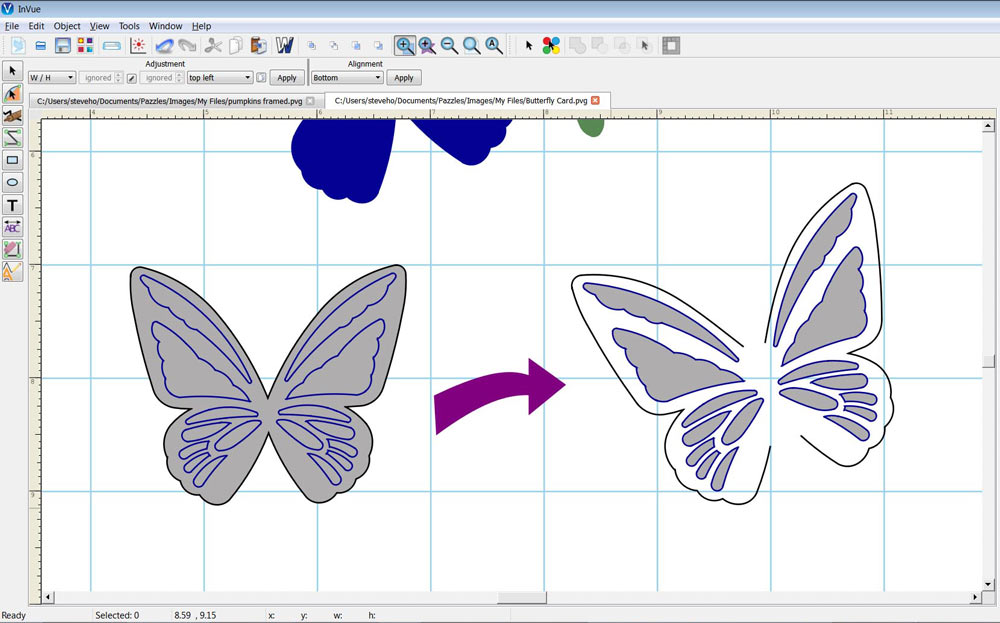Butterfly Cut Out Card