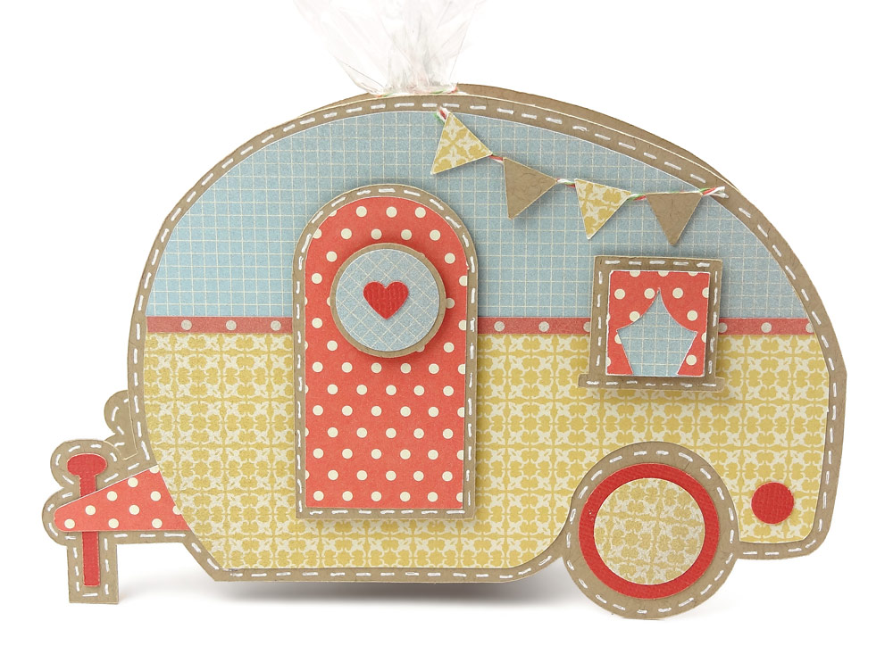 Camper Trailer Gift Box By Joanna Wright