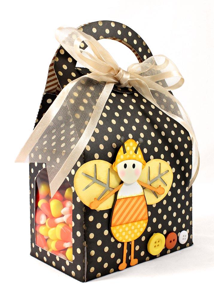 Candy Corn Bug Box Halloween Gift