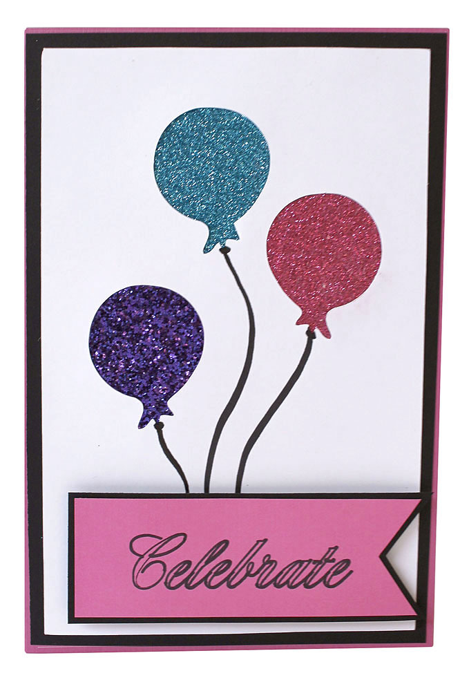 Glitter Balloon Card