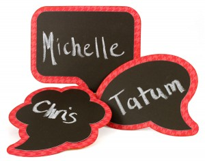 Chalkboard Speech Bubble Name Tags