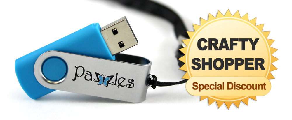 Charmers Pazzles USB 2GB with Lanyard Crafty Shopper Special