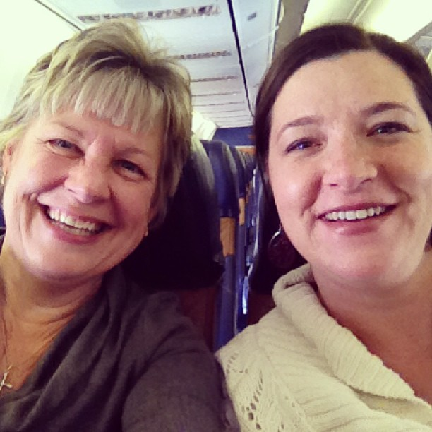 Chris and Michelle on plane for CHA 2013