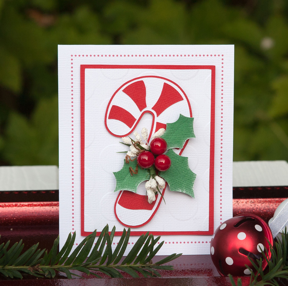 Candy Cane Christmas Cards Two Ways - Pazzles Craft Room