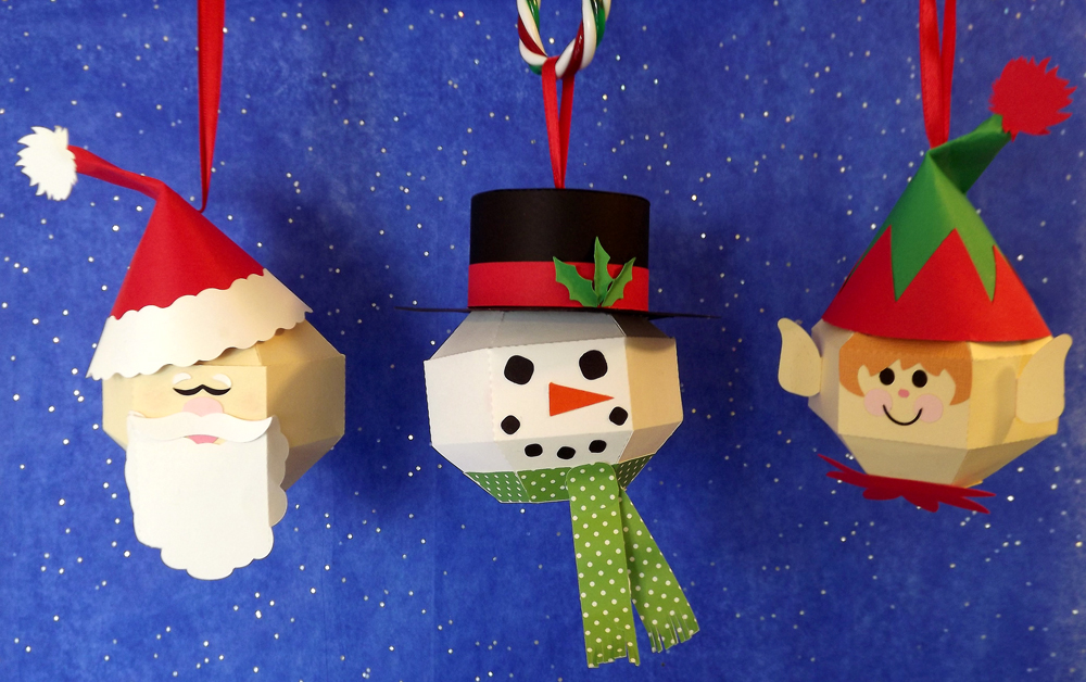 DIY Christmas Character Ornaments