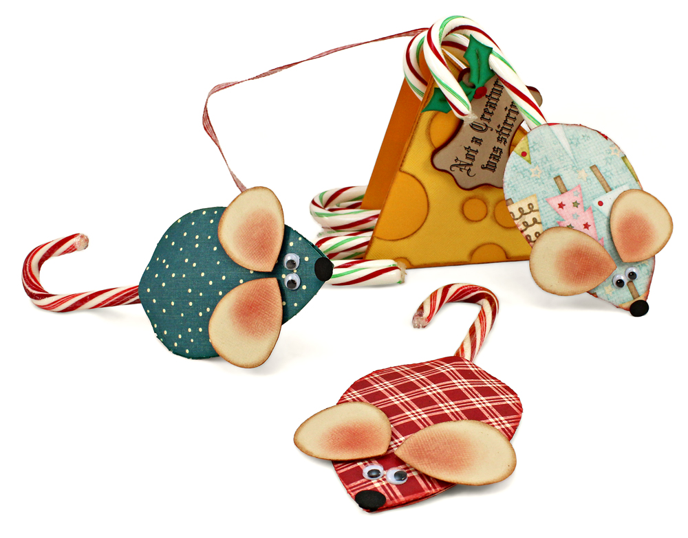 Christmas Gift Not a Creature Was Stirring Mouse Candy Canes
