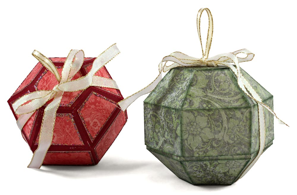 Christmas Ornament Treat Boxes
