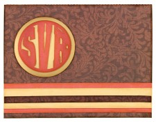 Round Monogram Card