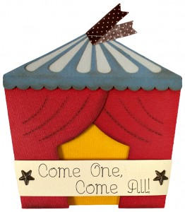 Circus Tent Invitation from Pazzles WPC and SVG cutting files CD 'Party'