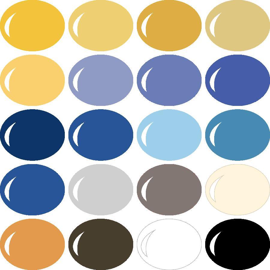 InVue Color Palette: Classic Hanukkah