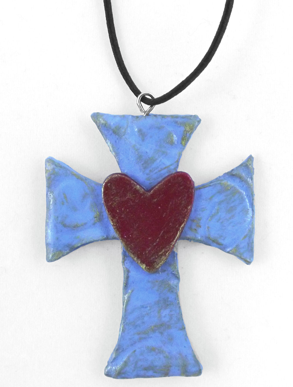 Clay Cross Pendant With The Pazzles Pastry Tool