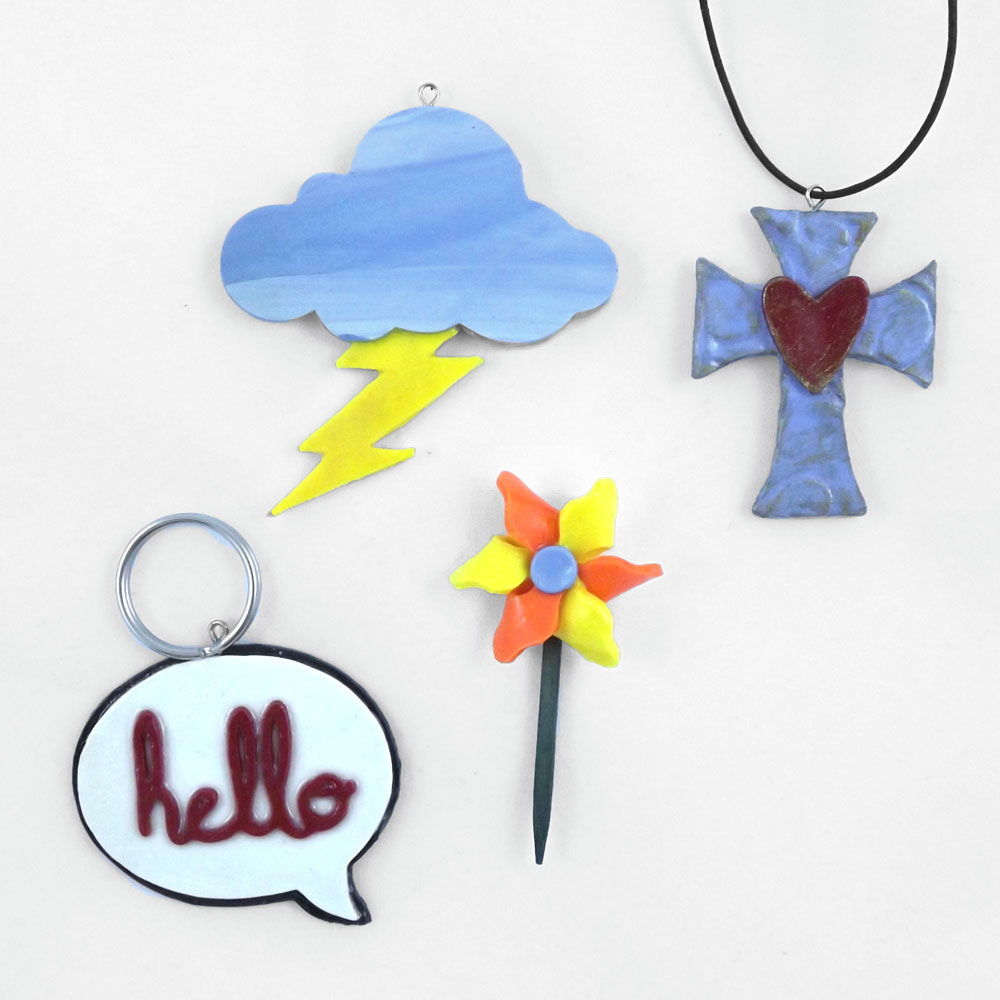 Polymer Clay Pendants with the Pazzles Pastry Tool