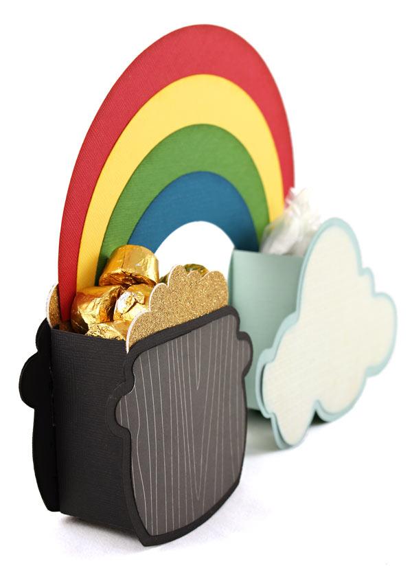 Cloud Rainbow Pot of Gold Box detail